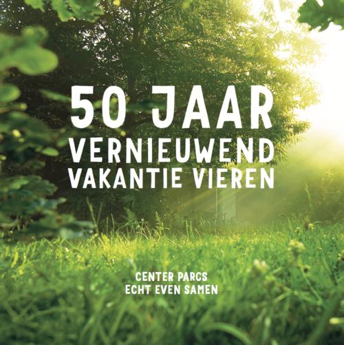 center parcs jubileum gastenboek 50 jaar
